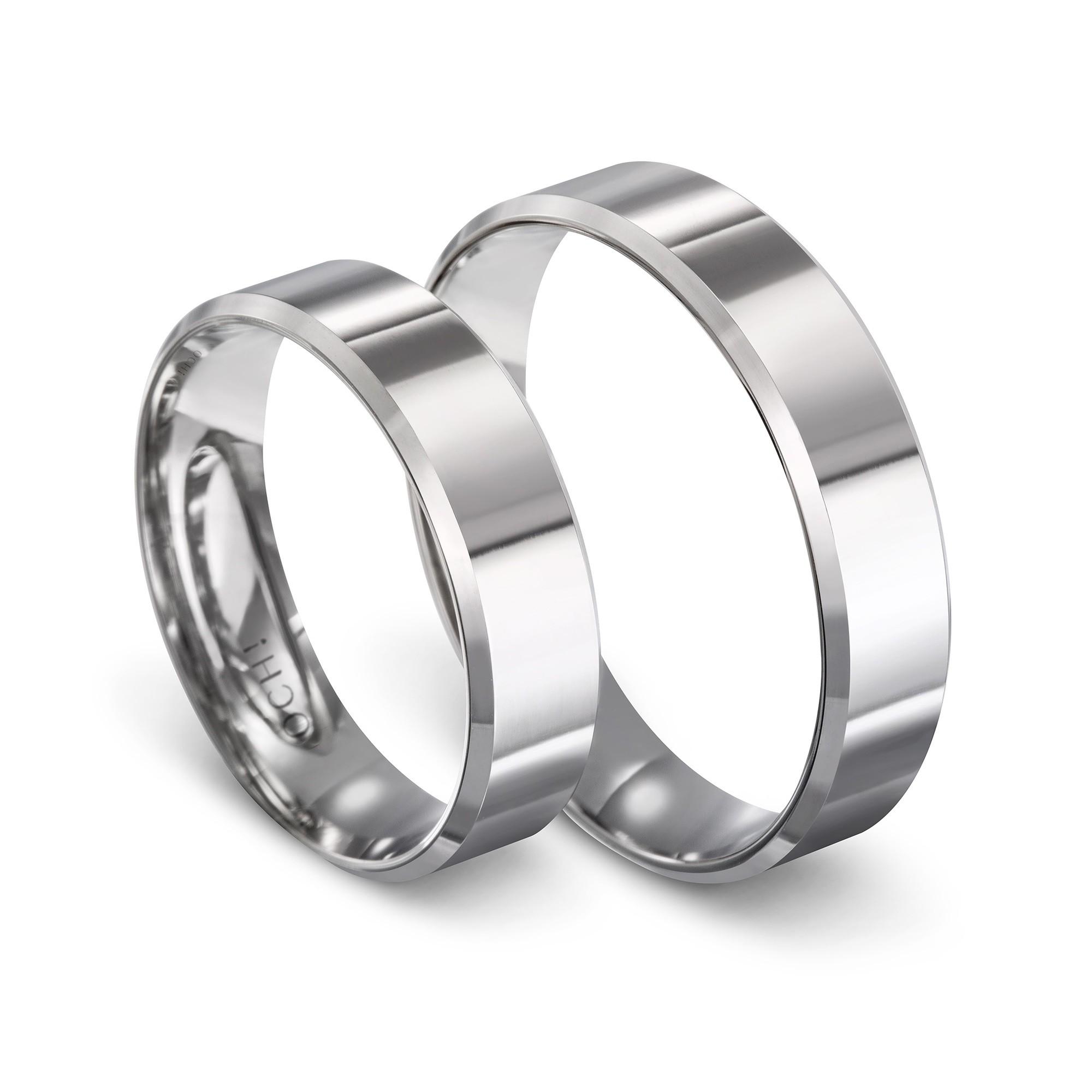 Obrączka ślubna z białego złota K17