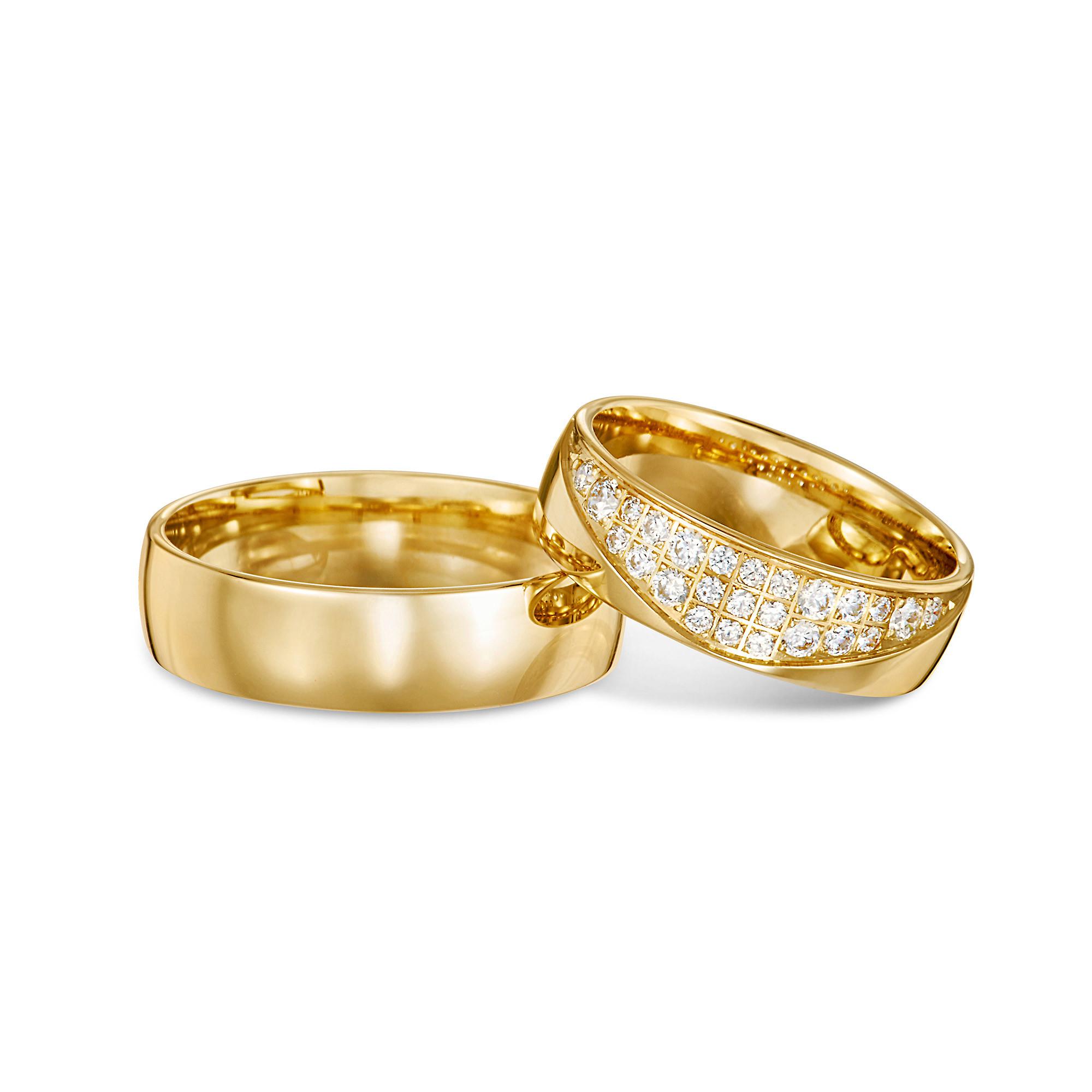 Obrączka ślubna z żółtego złota B111