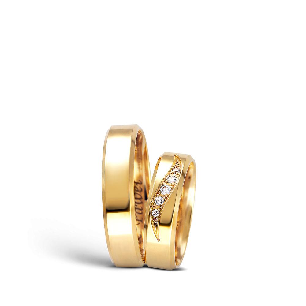 Obrączka ślubna z żółtego złota, klasyczna, C-102