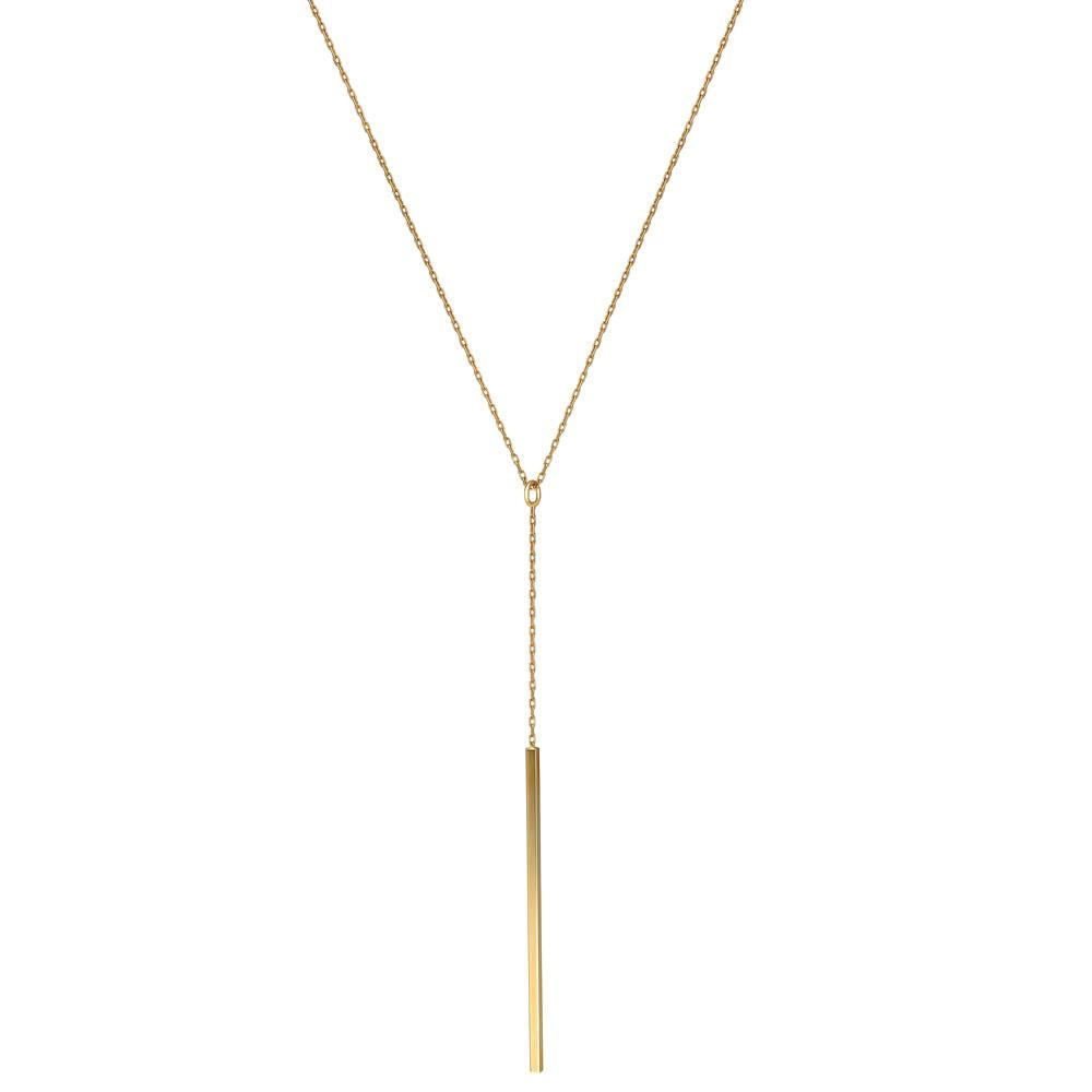 Naszyjnik z żółtego złota, regulowana długość, próba 585
