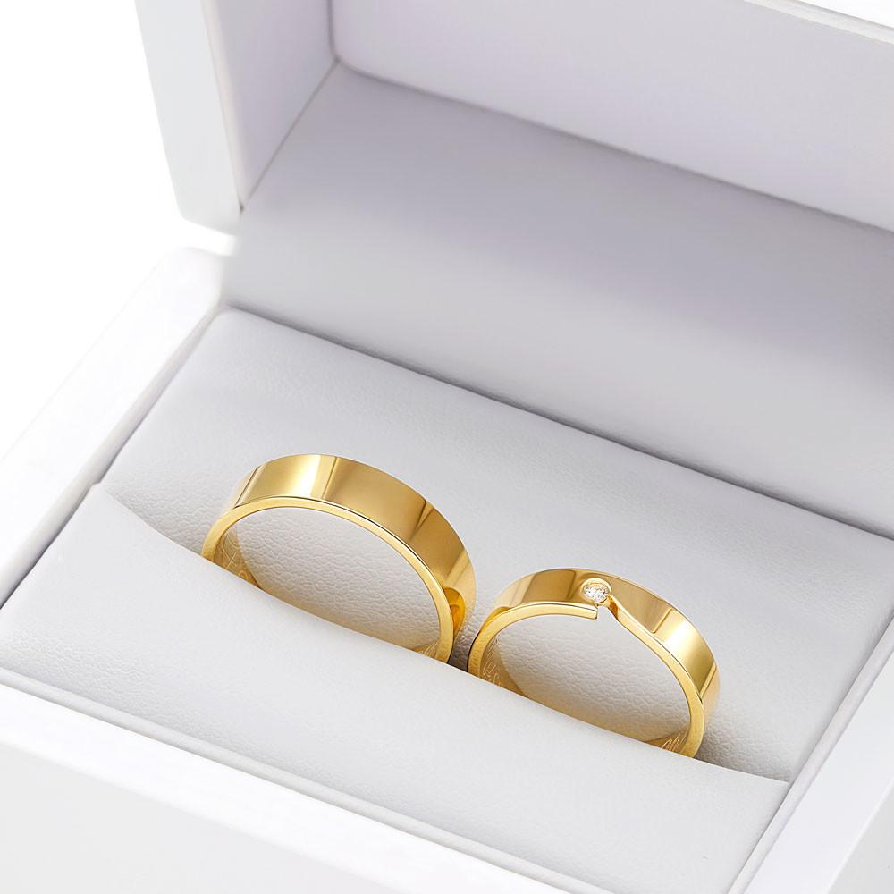 Obrączki ślubne z żółtego złota K56
