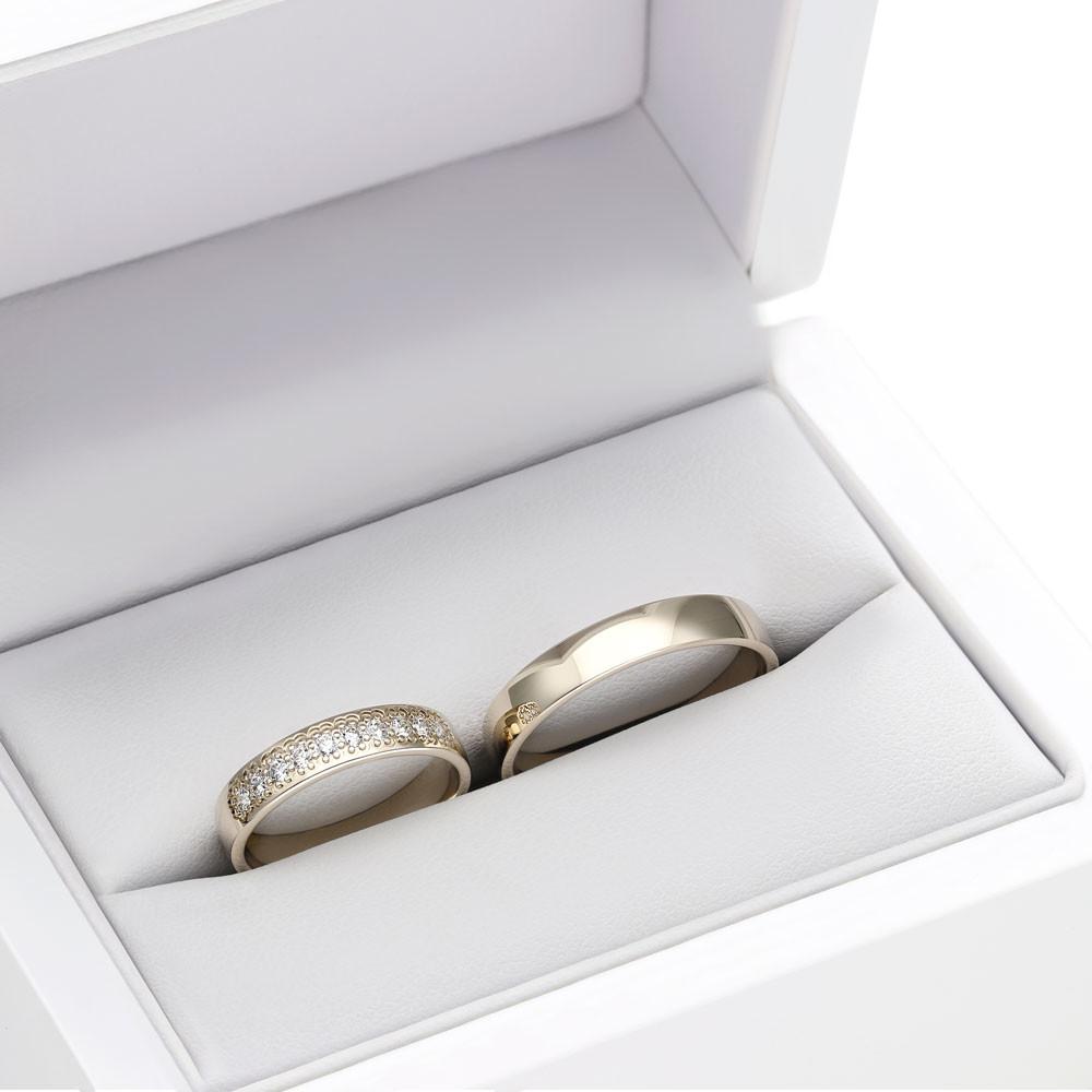 Obrączka ślubna z białego złota B151