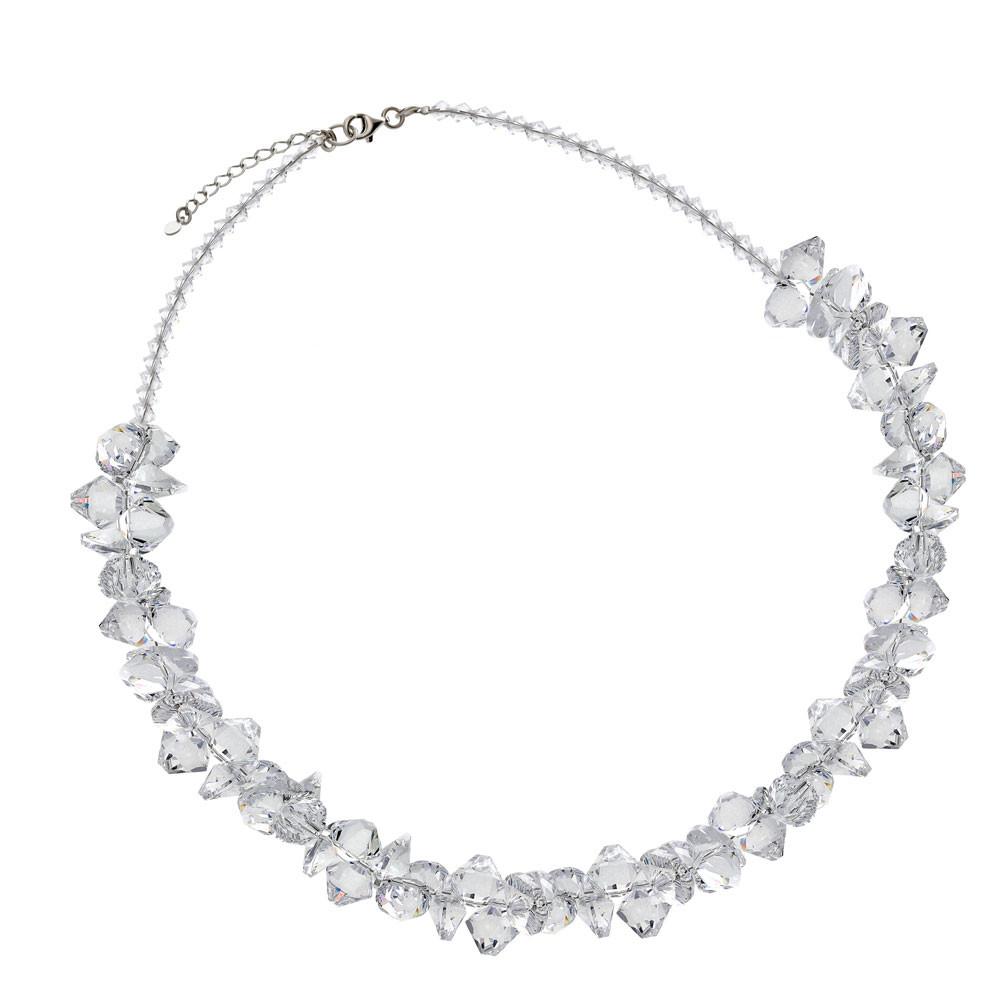 Komplet ślubny z kryształkami Swarovskiego, próba 925