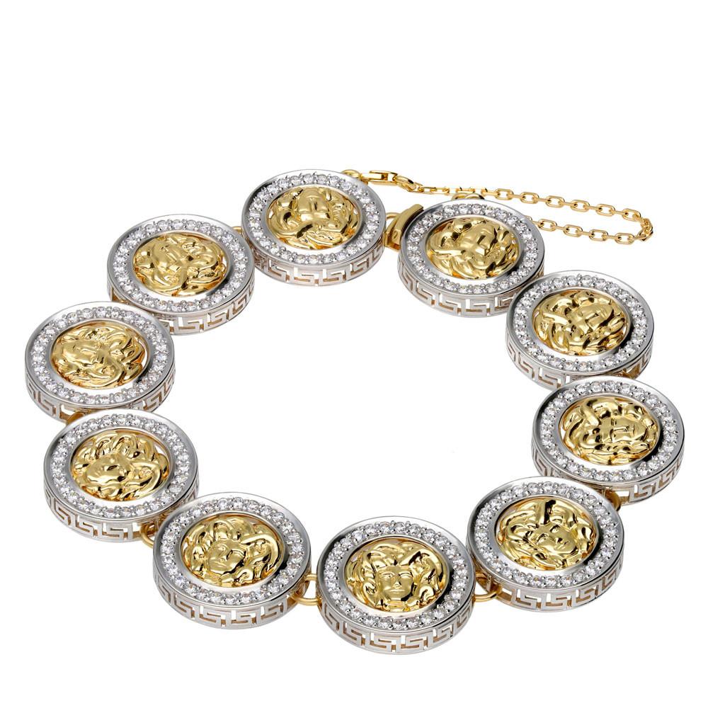 Bransoleta złota z cyrkoniami, próba 585