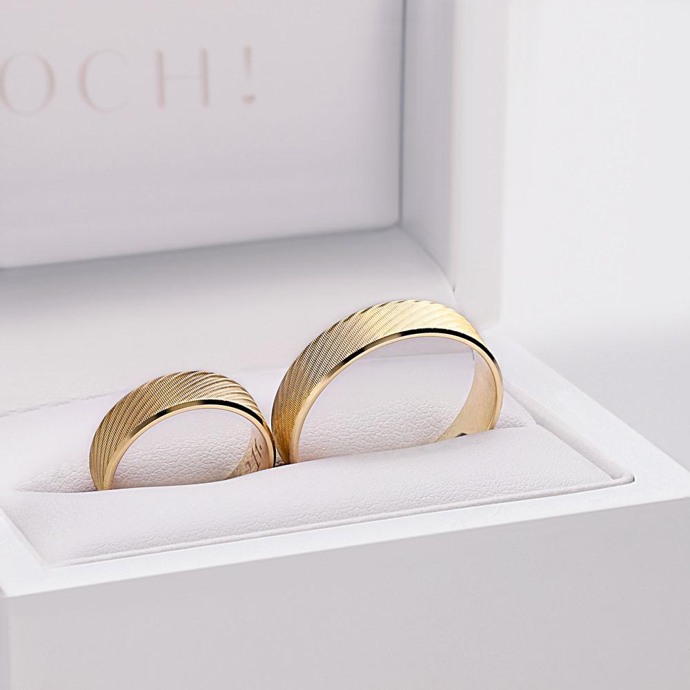 Obrączki ślubne z żółtego złota nowoczesne Z14