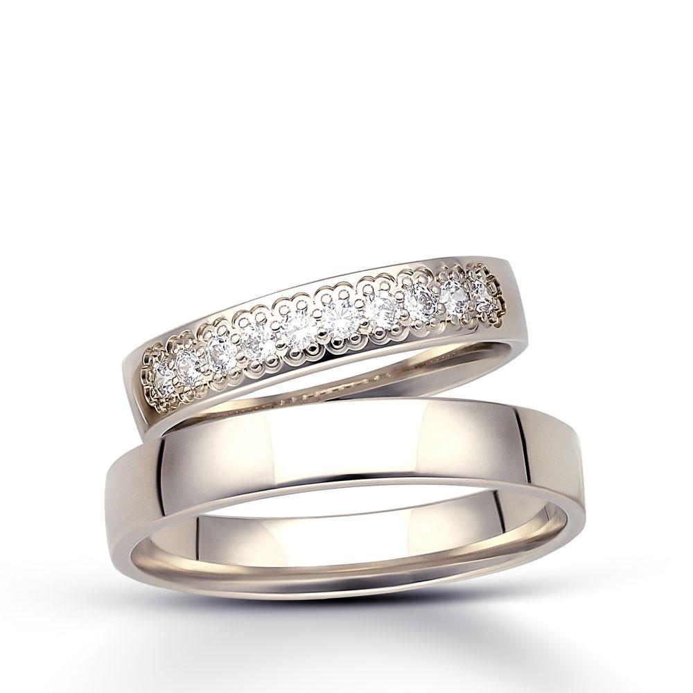 Obrączki ślubne z białego złota B151