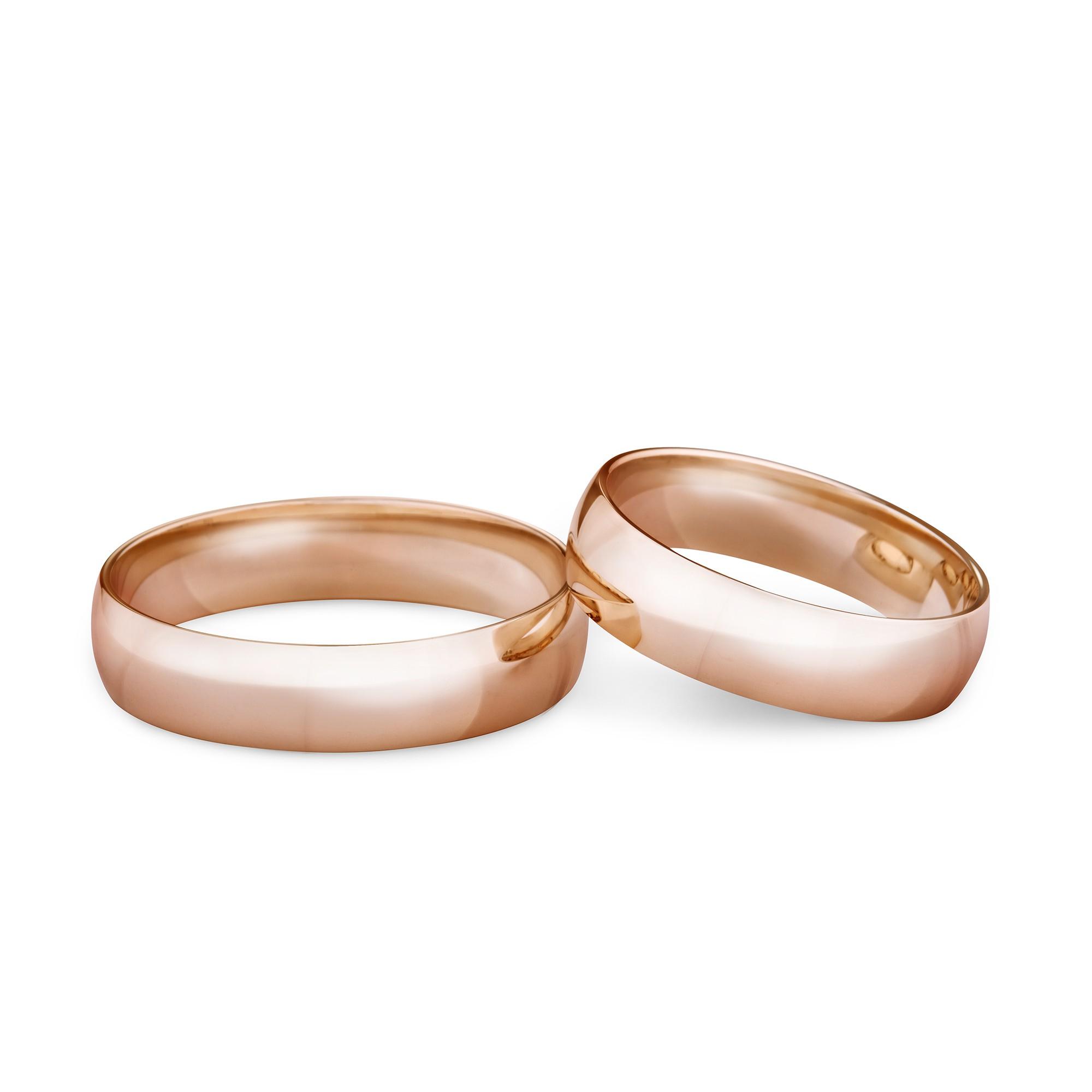 Obrączka ślubna z różowego złota K22